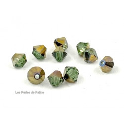 Toupies 4mm Chrysolithe Dorado - réf. 5301 (x20)