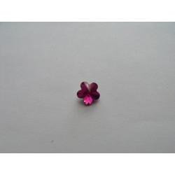 Cabochon Swarovski 4744 Fleur Fuschia 8mm (x1)