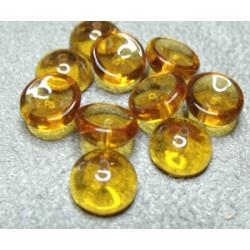 Perles Piggy Crystal Topaz 4X8mm (Xenviron50)