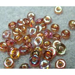 Perle en verre de Bohème O Bead® Crystal Orange Rainbow 4x2mm (X5gr)