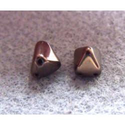 Perles Pyramides 6X6mm Jet Vega Luster (X10)