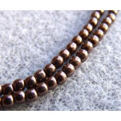 Perles Bohème 2 mm Jet Bronze (X1200 perles)