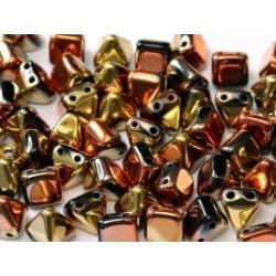 Perles Pyramides 6X6mm Jet California Gold Rush (X10)
