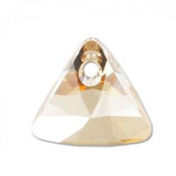 Perle Swarovski 6628 Triangle  Golden Shadow Pendant Xillion 8mm (X1)