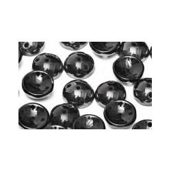 Perles Piggy Opaque jet Hématite 4X8mm (Xenviron50)