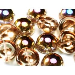 Dome Bead 14 x 8 mm Crystal Maréa (x4)