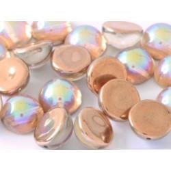 Dome Bead 14 x 8 mm Crystal Copper Rainbow (x4)