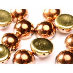 Dome Bead 14 x 8 mm Jet California Gold Rush (x4)