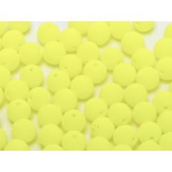Perle en verre de Bohême 8mm Neon Bright Yellow (x25)
