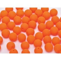 Perle en verre de Bohême 8mm Neon Bright Orange (x25)