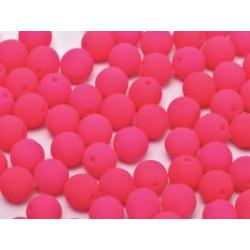 Perle en verre de Bohême 8mm Neon Bright Rose (x25)