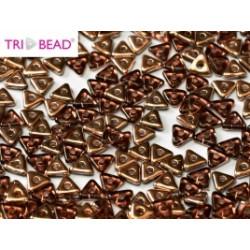 Perles Tri-Beads 4mm Améthyst Capri Gold(X 5gr)