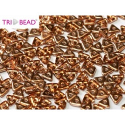 Perles Tri-Beads 4mm Rosaline Capri Gold(X 5gr)