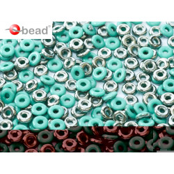 Perle en verre de Bohème O Bead® Jade Chrome 4x2mm (X5gr)