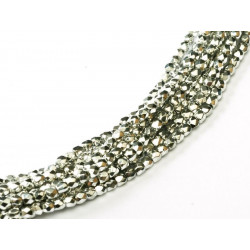 Facettes en verre de Bohême 2mm Crystal Labrador Full (X100)