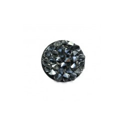 Crystal Fine Rock HF synthétique rond 15mm Silver Shade/Jet (X1)