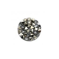 Crystal Fine Rock HF synthétique rond 15mm Met Light Gold (X1)