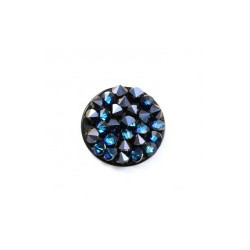 Crystal Fine Rock HF synthétique rond 15mm Crystal Bermuda Blue (X1)