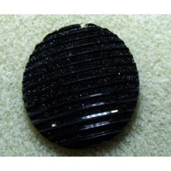 Cabochon en Résine 30mm Strié Noir (X1)
