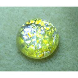 Cabochon en verre de Murano 18X7mm Silver (X1)