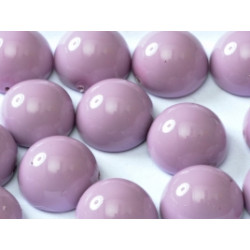 Dome Bead 14 x 8 mm Lilas Opaque (x4)