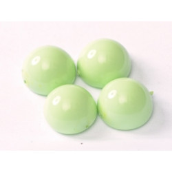 Dome Bead 14 x 8 mm Lt Spring Green Opaque (x4)