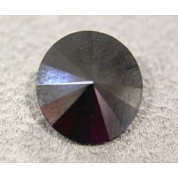 Rivoli 14mm 1122 Crystal Jet Hématite Folied(x1)