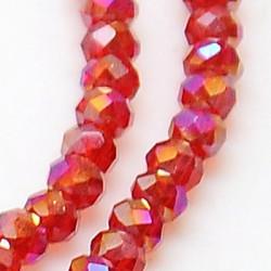 Perles Rondes Aplaties en Cristal de Chine 2.5x2mm Opaque Red Satin (x1fil)
