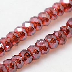 Perles Rondes Aplaties en Cristal de Chine 2.5x2mm Red Satin (x1fil)