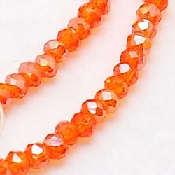 Perles Rondes Aplaties en Cristal de Chine 2.5x2mm Hyacinthe Satin (x1fil)