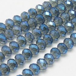 Perles Rondes Aplaties en Cristal de Chine 2.5x2mm Montana Satin (x1fil)