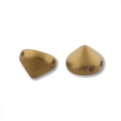 Perles Tipps 8mm Mat Metallic Antique Brass (X4)