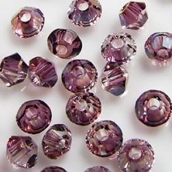 Toupies 3mm Crystal Lilac Shadow - réf. 5328 Xilion (x20)