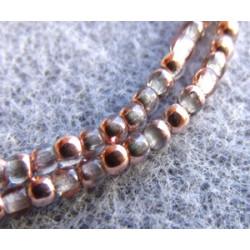 Perles Bohème 2 mm Crystal Capri Gold (x1200 perles)