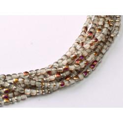 Perles Bohème 2 mm Crystal Sliperit (X1200 perles)