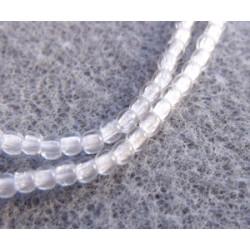 Perles Bohème 2 mm Crystal (X1200 perles)