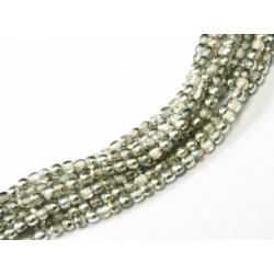 Perles Bohème 2 mm Crystal Silver Rainbow (X1200 perles)