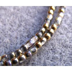 Perles Bohème 2 mm Crystal Golden Rainbow (X1200 perles)