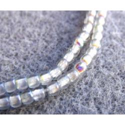 Perles Bohème 2 mm Crystal Blue Rainbow (X1200 perles)