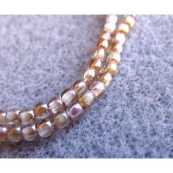 Perles Bohème 2 mm Crystal Brown Rainbow (X1200 perles)