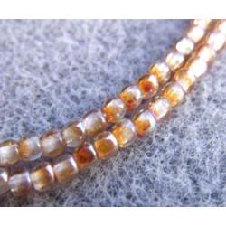 Perles Bohème 2 mm Crystal Orange Rainbow (X1200 perles)