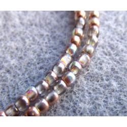 Perles Bohème 2 mm Crystal Copper Rainbow (X1200 perles)