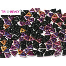 Perles Tri-Beads 4mm Jet Sliperit (X 5gr)