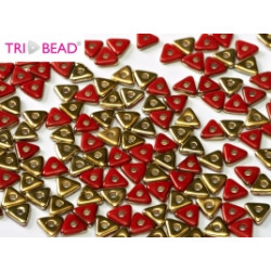 Perles Tri-Beads 4mm Red Amber (X 5gr)