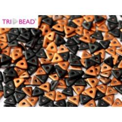 Perles Tri-Beads 4mm Jet Sunset Matted (X 5gr)