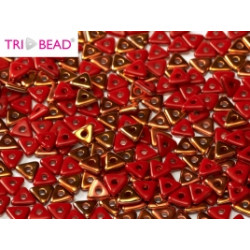 Perles Tri-Beads 4mm Red Sunset (X 5gr)