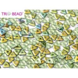 Perles Tri-Beads 4mm Peridot Vitrail Matted (X 5gr)