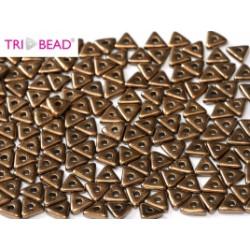 Perles Tri-Beads 4mm Jet Bronze (X 5gr)