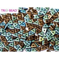 Perles Tri-Beads 4mm Jet Bronze Ab (X 5gr)