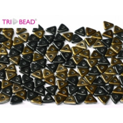 Perles Tri-Beads 4mm Jet Valentinite (X 5gr)